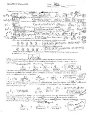 Exam Study Guide Permutations with Key