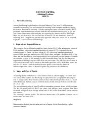 COST OF CAPITAL Problems Sheet 1a.doc