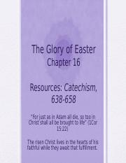 Essentials Chapter 16 - The Glory of Easter