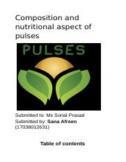 Composition and nutritional aspect of pulses