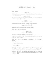 Discrete and Foundational Mathematics I quiz 8 Solutions