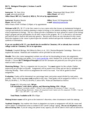 BI 171 Syllabus - Fall 2013