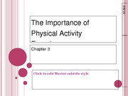 Ch3 The Importance of Physical Activity Experiences
