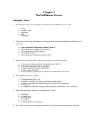 Chp 5 MC - The Fulfillment Process .docx