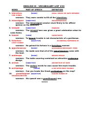 ENGLISH III VOCABULARY LIST #33 (4)