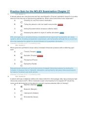 Practice Quiz for the NCLEX Examination Chapter 57