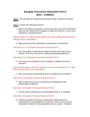Synaptic Processes Homework Part II 2015 Answer Key.doc