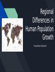 Regional Differences in Human Population Growth.pptx