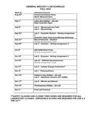 GBI Fall 2014 Lab Schedule(1)
