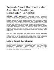 Di Kompleks Objek Wisata Candi Borobudur Tidak Ada Nya