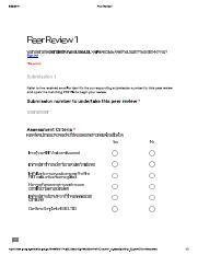 Peer Review 1 - Questions
