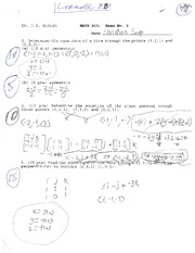 MATH 203 KUDISH EXAM 2 SUMMER 2013