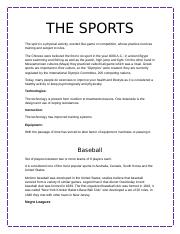 THE SPORTS.docx