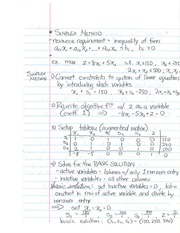 Study Guide on Simplex Method