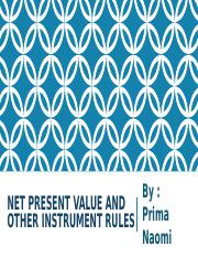 Net Present Value and Other Instrument Rules 4.ppt