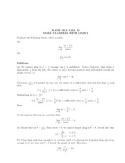 Math 155a_Class Notes on Limits