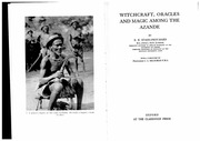 Witchcraft among the azanda evans_pritchard