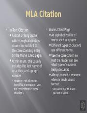 Using Quotations and MLA Style Part 2 of 2.pptx