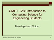 lecture12 Input and Output