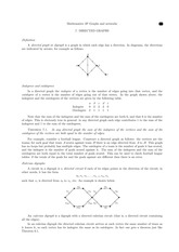 Directed Graphs Lecture Notes