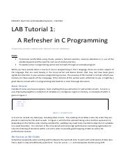 LAB Tutorial 1 Cprogramming