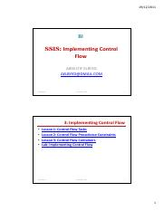 03_SSIS-Implementing Control Flow