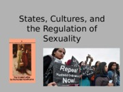 States, Cultures, and the Regulation of Sexuality