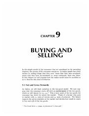 9 Buying and Selling