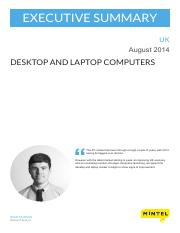 Desktop and Laptop Computers - UK - August 2014 - Executive Summary