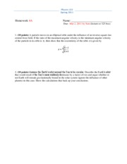 Physics 325 Spring 2011 Homework 4