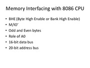 8086 Memory Interface