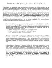 Biol 5 essay questions