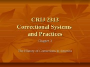 CRIJ 2313 - Chapter 3 - Fall 2011