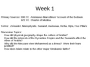 Week 1 The Emergence of Islam (1)