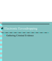 Lecture 21-Electronic Eavesdropping