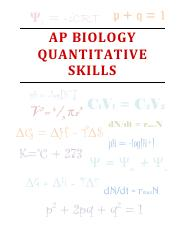 AP Biology  Quantitative Skills Practice Problems KEY.pdf