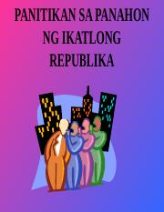 Republika ng pilipinas ikatlong Kasaysayan ng