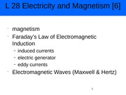 Electricity and magnetics 6 Powerpoint