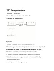 Notes for Type D Reorganization.docx