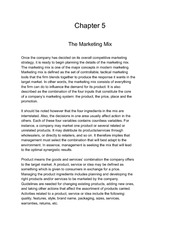 Marketing Principles Chapter 5