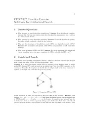 CPSC 322 Fall 2010 Excercise Worksheet 1 Solutions