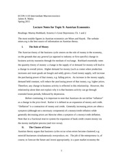 ECON 1110 Lecture Notes 9