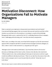 Motivation Disconnect_ How Organizations Fail to Motivate Managers