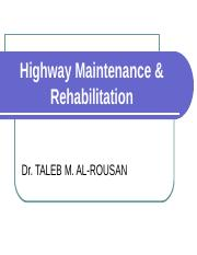 Highway Maintenance & Rehabilitation.ppt