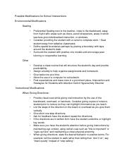 Attention Deficit Hyperactive Disorder adhd doc a hand out modifications for intervention.docx