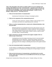 Communication Study Guide NEW