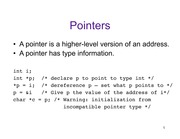 Lecture: Pointers