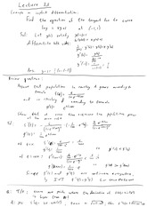 Math 523 Implicit Differentiation Notes