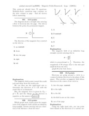 G. Magnetic Fields Homework-solutions
