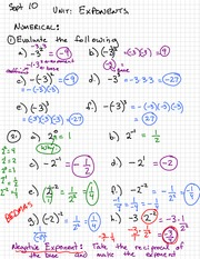 Math 100 Exponent Laws
